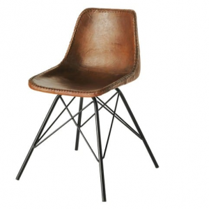 Leather industrial chair