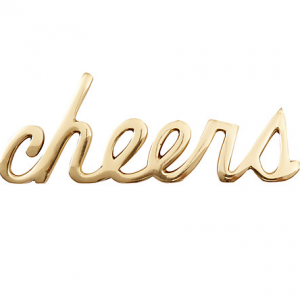 Gold cheers decoration