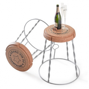 Champagne cork side table, £169