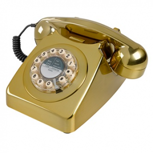 Working gold telephone, £39.95