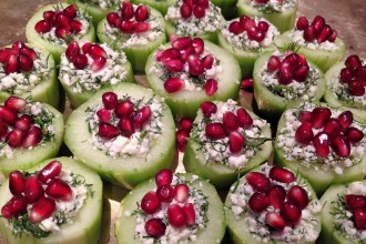 cucumber cup canapes