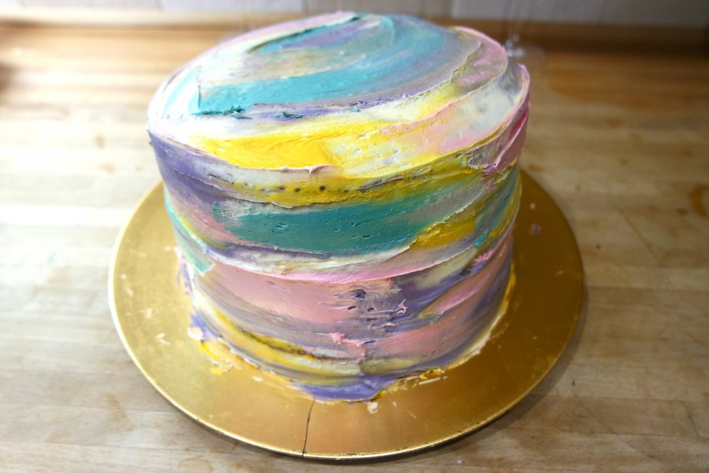 watercolour cake