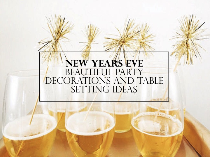 New Years Eve Dinner Party Tableware and Decorations | Yes ...