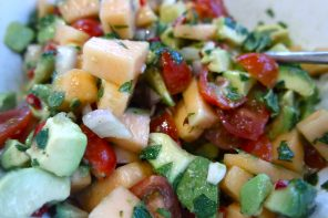 Cantaloupe melon summery salad