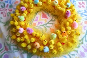 Easter chick wreath DIY