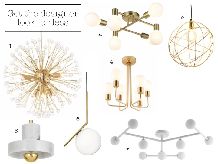 Lighten up with these stunning statement pendant lights yes please multi arm cluster brushed gold effect 6 lamp pendant ceiling light 176 2 modern gold satin brushed 6 lamp ceiling light 72 3 aloadofball Image collections