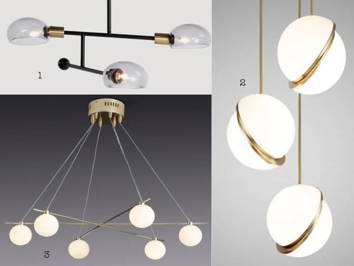 Gold Brass Globe Ceiling Pendant Light Orb Chandelier GBP19995 4 Brushed Effect 6 Lamp Semi Flush GBP94 5