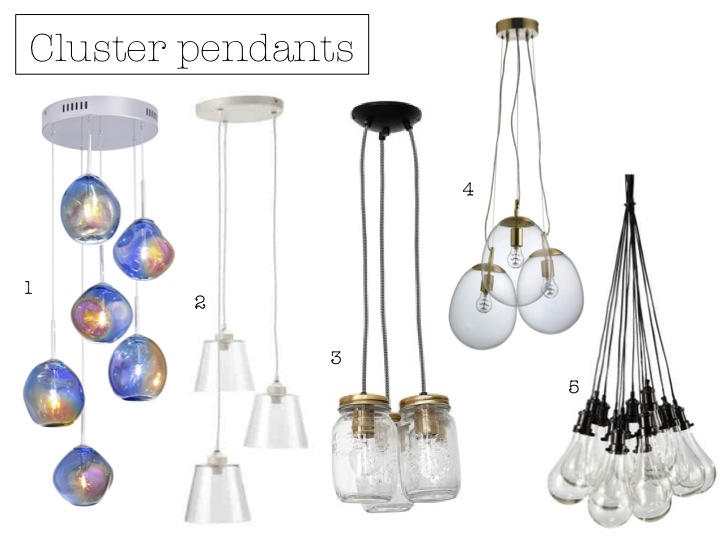 Cluster Of Three Hanging Vintage Jar Lights GBP8995 4 Clear Glass Triple Drop Ceiling Light GBP250 5 Bulbs Pendant Lamp GBP407