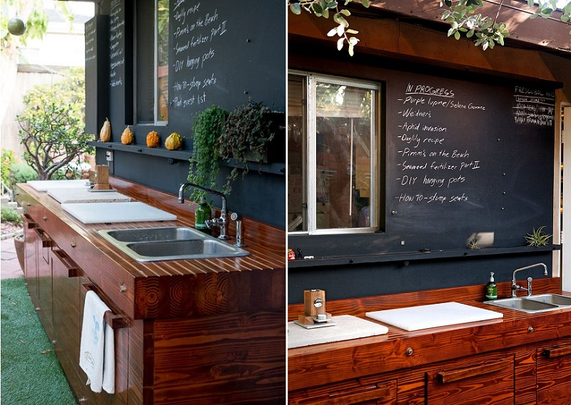10 insanely cool ideas to upgrade your garden terrace or for Outdoor kitchen wall ideas