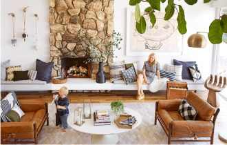 living room looks for less. design crush: emily henderson\u0027s casual cool californian style living room looks for less