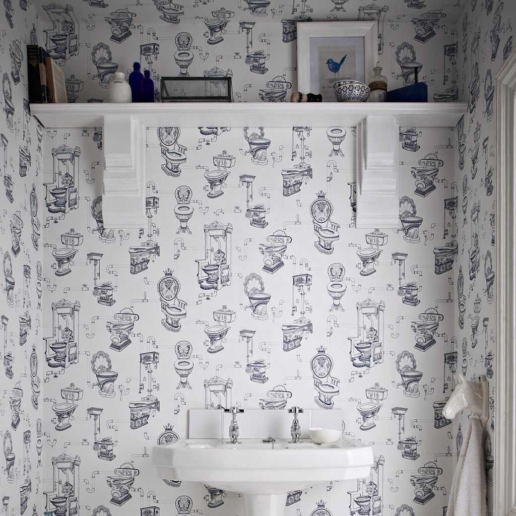 Bathroom porn the most stunning bathroom wallpapers and for Graham and brown bathroom wallpaper