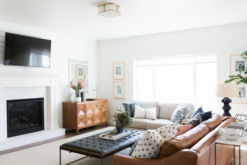 Living room ideas and inspiration get studio mcgee 39 s look for less yes please - Studio mcgee ...