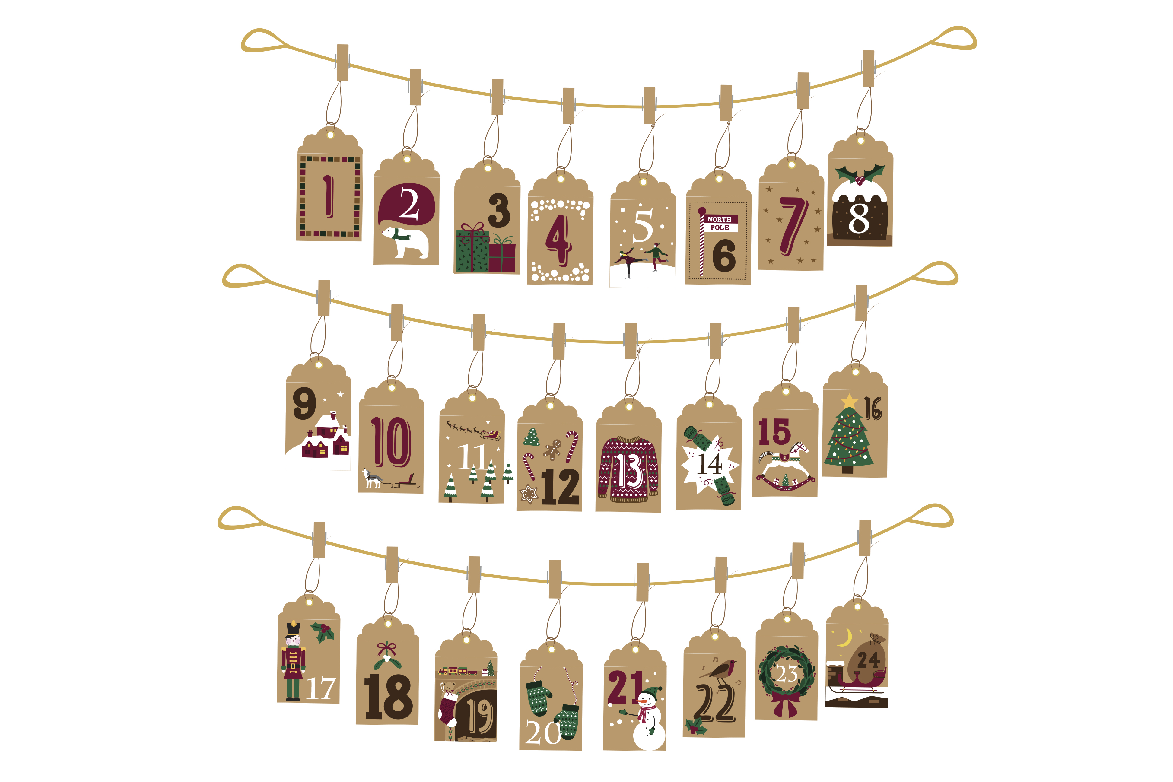 Self Made Advent Calendar : The best personalised diy and self filling advent