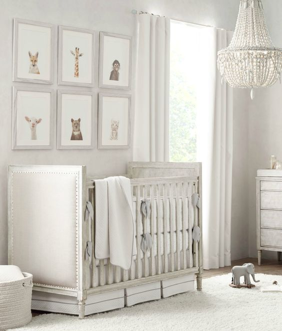 Soft And Elegant Gray And Pink Nursery: Calming Grey Nursery Design: Get The Look!